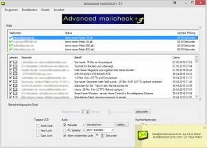 Advanced mailcheck+, die Alternative zum Web.de mailcheck und Gmx mailcheck